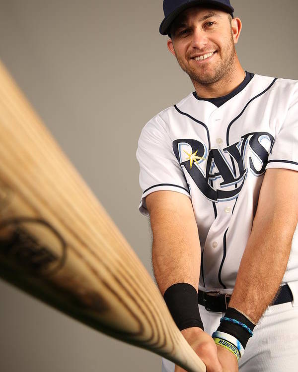 Media Day Poster featuring the photograph Evan Longoria by Robbie Rogers