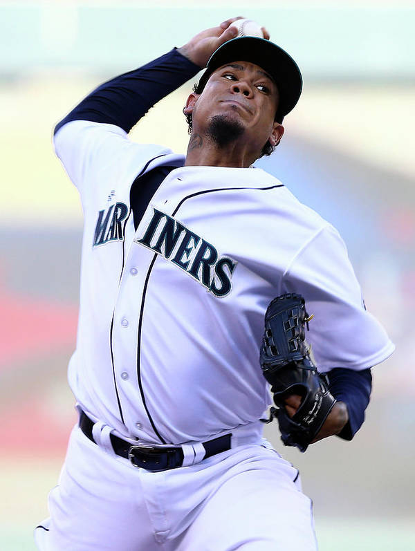 People Poster featuring the photograph Felix Hernandez by Elsa