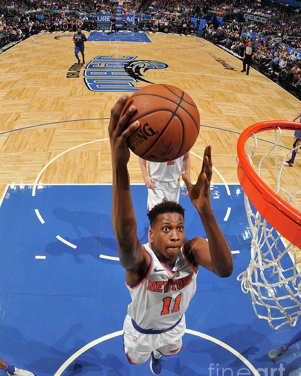 Nba Pro Basketball Poster featuring the photograph Frank Ntilikina by Fernando Medina