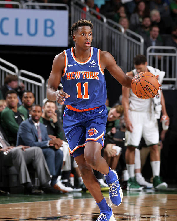 Nba Pro Basketball Poster featuring the photograph Frank Ntilikina by Gary Dineen