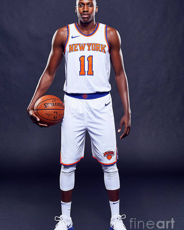 Media Day Poster featuring the photograph Frank Ntilikina by Jennifer Pottheiser