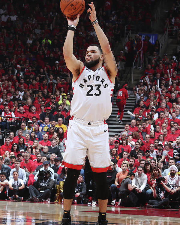 Playoffs Poster featuring the photograph Fred Vanvleet by Nathaniel S. Butler