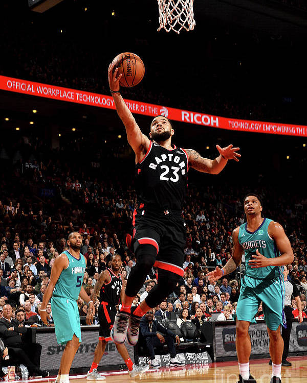 Nba Pro Basketball Poster featuring the photograph Fred Vanvleet by Ron Turenne
