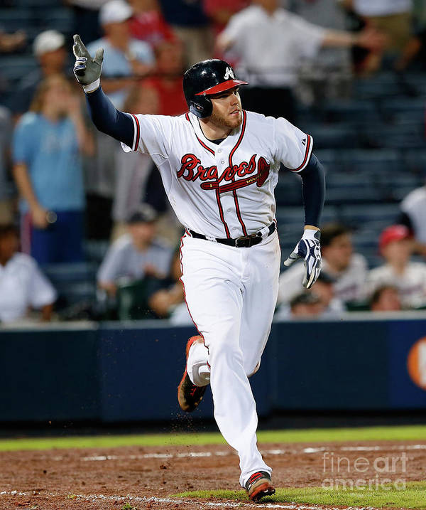 Atlanta Poster featuring the photograph Freddie Freeman by Kevin C. Cox