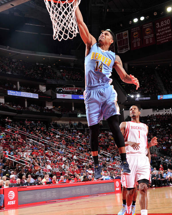 Nba Pro Basketball Poster featuring the photograph Gary Harris by Bill Baptist