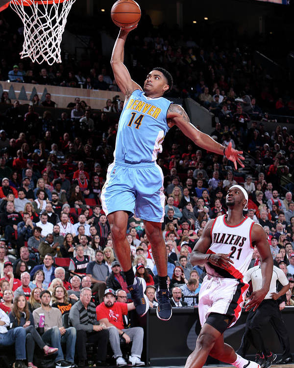 Nba Pro Basketball Poster featuring the photograph Gary Harris by Sam Forencich
