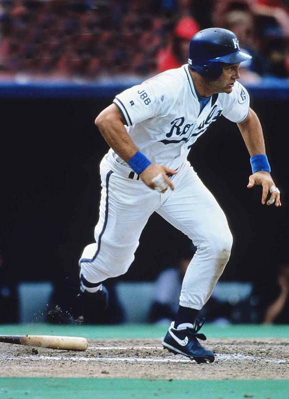 American League Baseball Poster featuring the photograph George Brett by Ronald C. Modra/sports Imagery