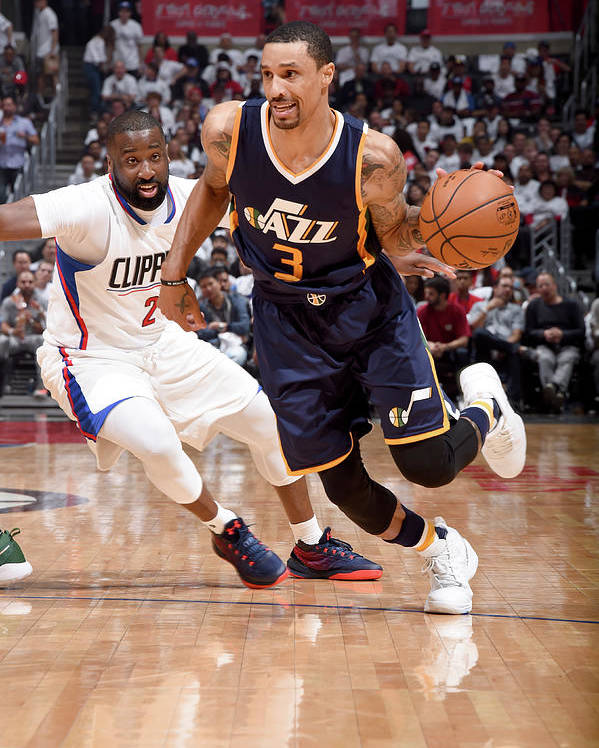 Playoffs Poster featuring the photograph George Hill by Andrew D. Bernstein