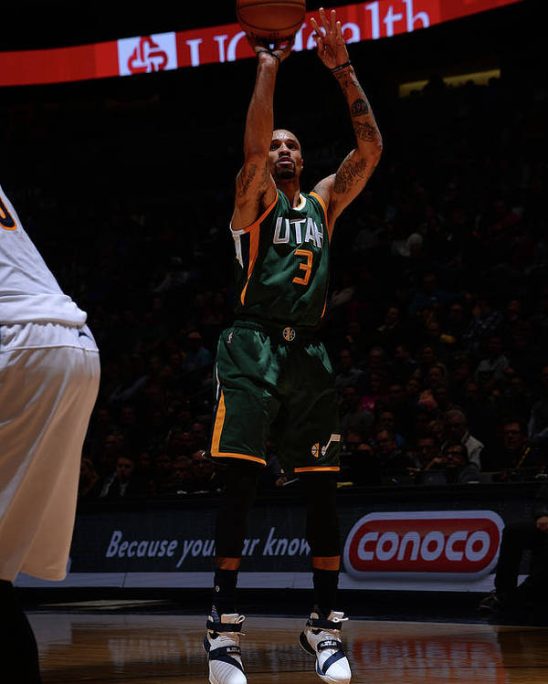 Nba Pro Basketball Poster featuring the photograph George Hill by Bart Young