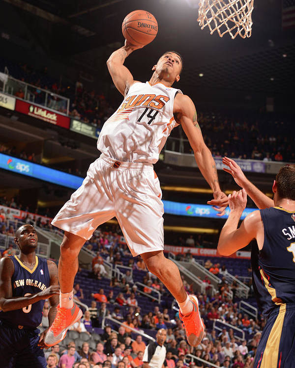 Nba Pro Basketball Poster featuring the photograph Gerald Green by Barry Gossage