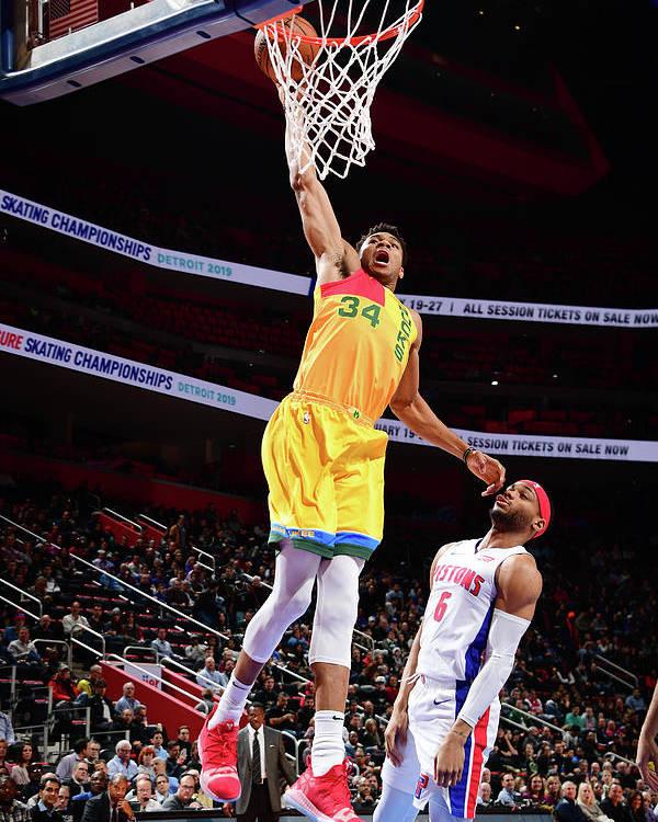 Nba Pro Basketball Poster featuring the photograph Giannis Antetokounmpo by Chris Schwegler