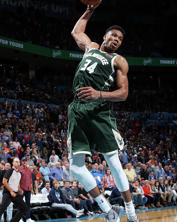 Nba Pro Basketball Poster featuring the photograph Giannis Antetokounmpo by Zach Beeker