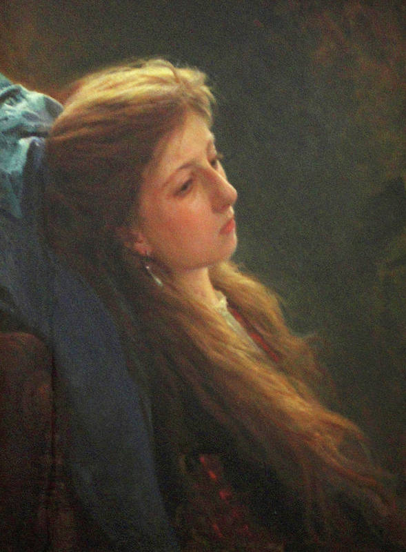 Tretyakov Gallery Moscow Poster featuring the painting Girl with a Loose Braid by Ivan Kramskoy