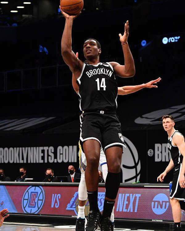 Nba Pro Basketball Poster featuring the photograph Golden State Warriors v Brooklyn Nets by Jesse D. Garrabrant