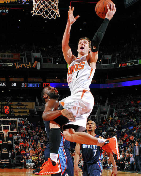 Nba Pro Basketball Poster featuring the photograph Goran Dragic by Barry Gossage