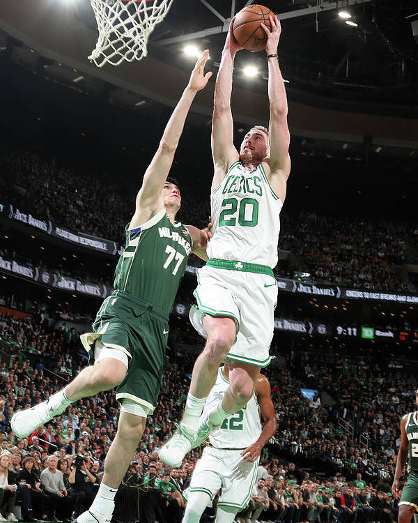 Playoffs Poster featuring the photograph Gordon Hayward by Nathaniel S. Butler
