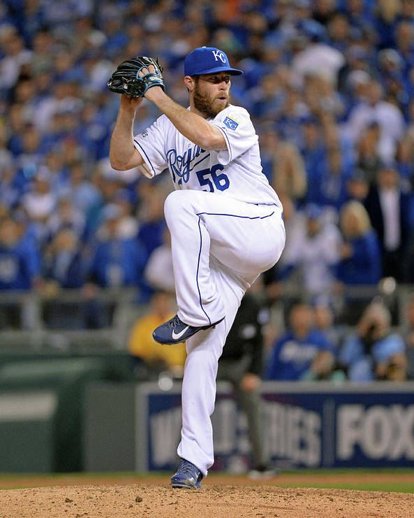 Playoffs Poster featuring the photograph Greg Holland by Ron Vesely