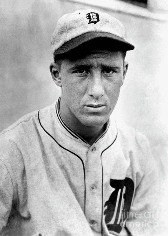 American League Baseball Poster featuring the photograph Hank Greenberg by National Baseball Hall Of Fame Library