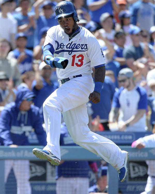 American League Baseball Poster featuring the photograph Hanley Ramirez and Adrian Gonzalez by Harry How