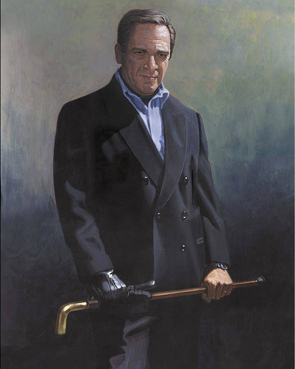 #formal Portrait Of Harold Shull Poster featuring the painting Harold Shull Circa 2004 by Harold Shull