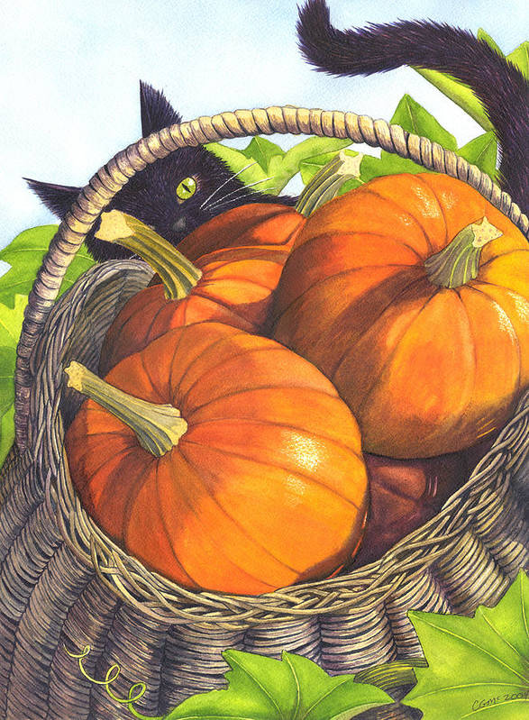 Pumpkin Poster featuring the painting Harvest by Catherine G McElroy