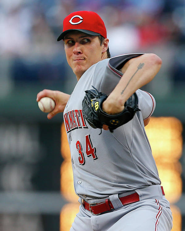 Second Inning Poster featuring the photograph Homer Bailey by Rich Schultz