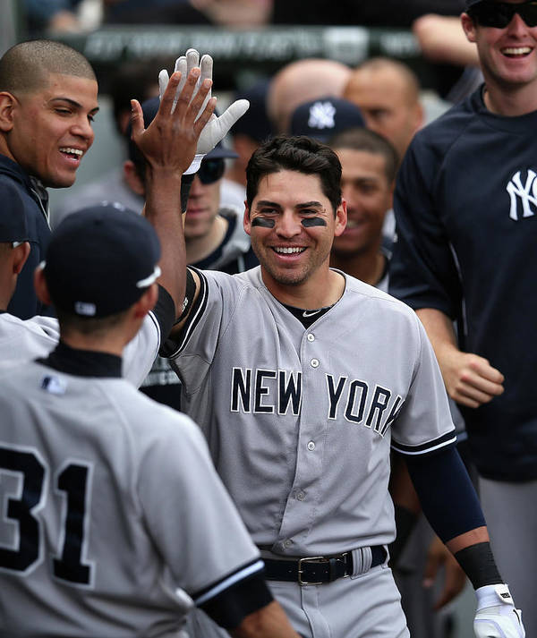 American League Baseball Poster featuring the photograph Jacoby Ellsbury by Jonathan Daniel