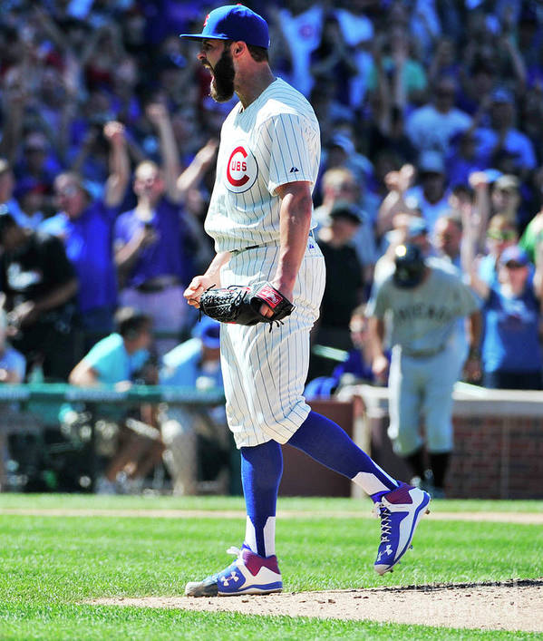 People Poster featuring the photograph Jake Arrieta by David Banks