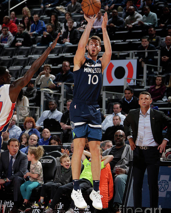Nba Pro Basketball Poster featuring the photograph Jake Layman by Brian Sevald