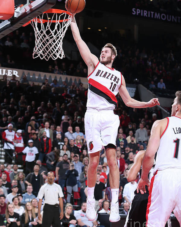 Nba Pro Basketball Poster featuring the photograph Jake Layman by Sam Forencich