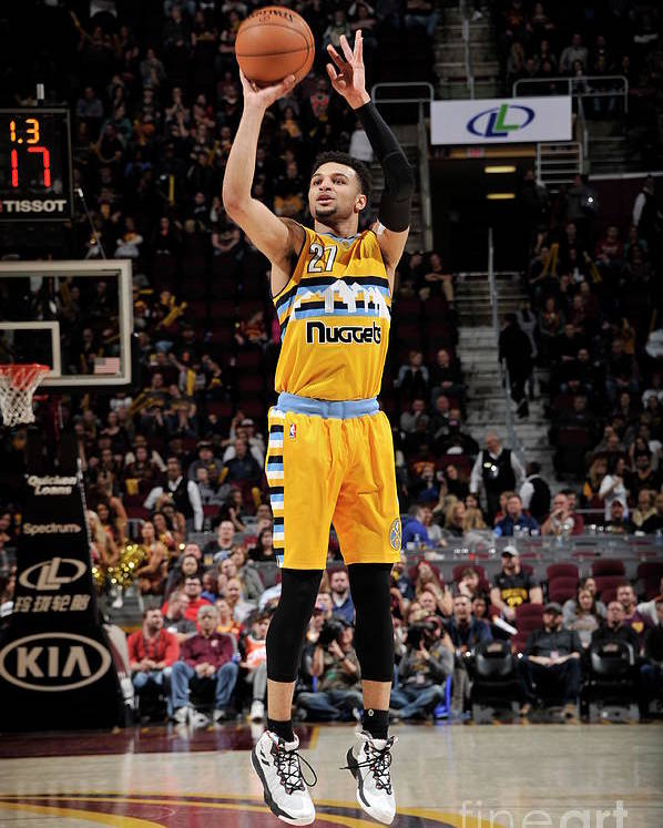 Nba Pro Basketball Poster featuring the photograph Jamal Murray by David Liam Kyle