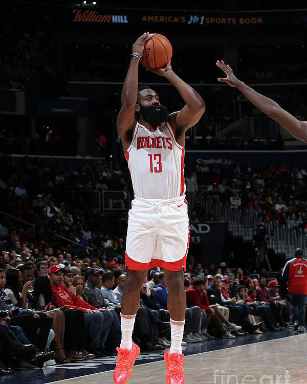 Nba Pro Basketball Poster featuring the photograph James Harden by Stephen Gosling
