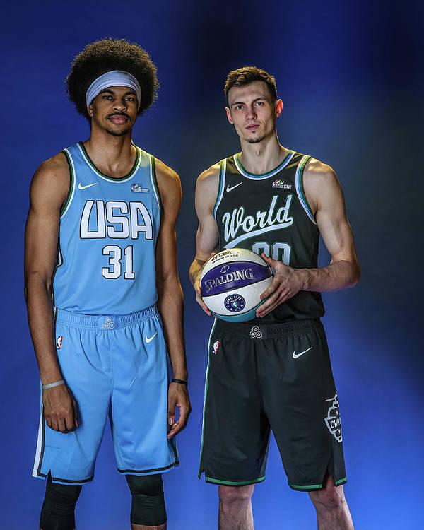 Nba Pro Basketball Poster featuring the photograph Jarrett Allen by Michael J. Lebrecht Ii