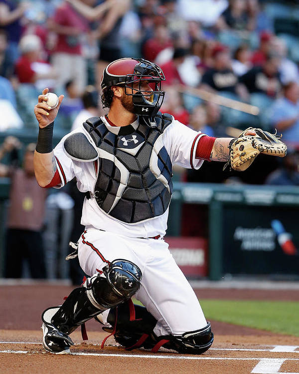 Baseball Catcher Poster featuring the photograph Jarrod Saltalamacchia by Christian Petersen
