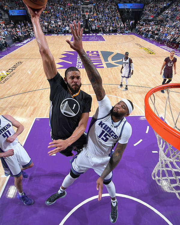 Nba Pro Basketball Poster featuring the photograph Javale Mcgee and Demarcus Cousins by Rocky Widner