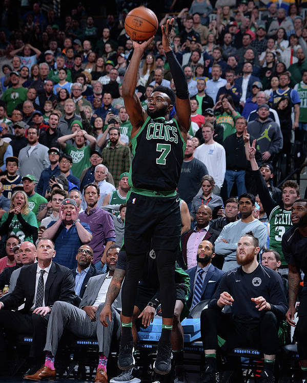 Nba Pro Basketball Poster featuring the photograph Jaylen Brown by Bart Young