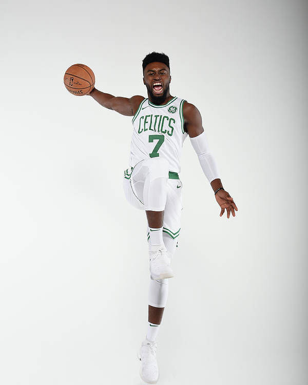 Media Day Poster featuring the photograph Jaylen Brown by Brian Babineau