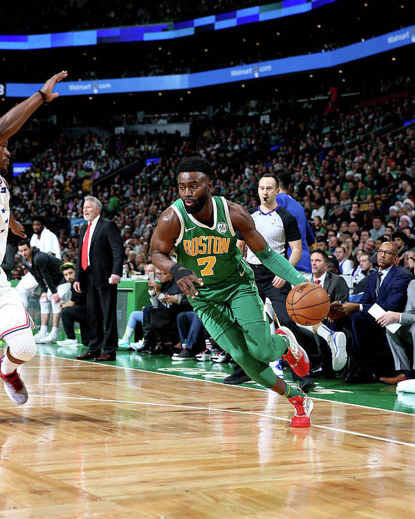 Nba Pro Basketball Poster featuring the photograph Jaylen Brown by Chris Marion