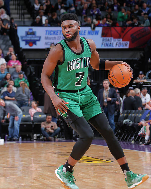 Nba Pro Basketball Poster featuring the photograph Jaylen Brown by Rocky Widner