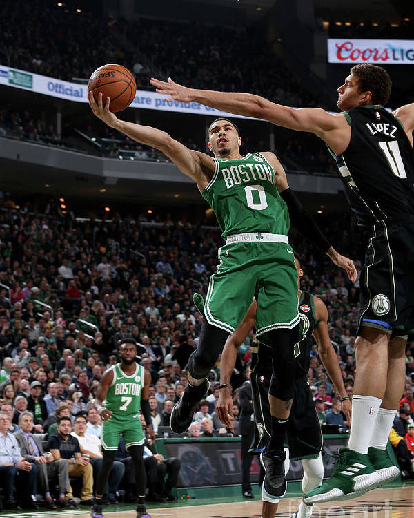 Nba Pro Basketball Poster featuring the photograph Jayson Tatum by Gary Dineen