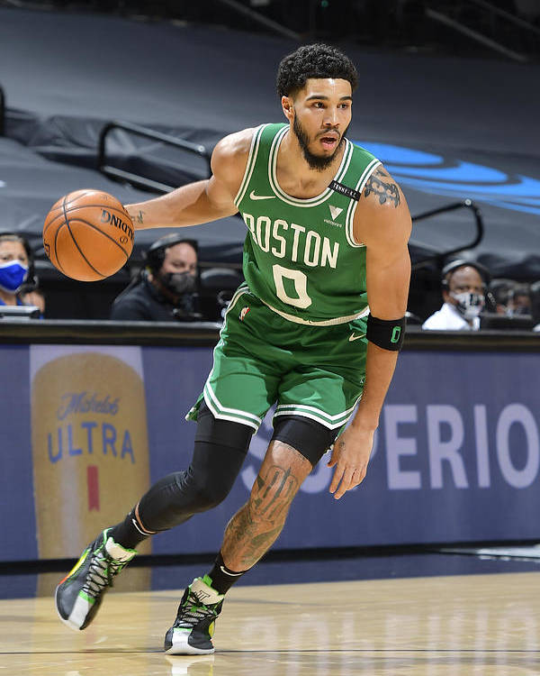 Nba Pro Basketball Poster featuring the photograph Jayson Tatum by Logan Riely
