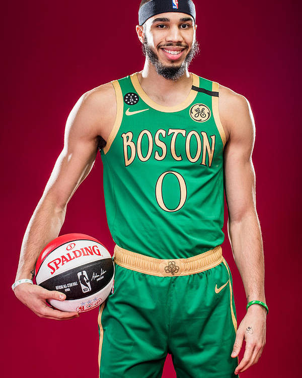 Nba Pro Basketball Poster featuring the photograph Jayson Tatum by Michael J. LeBrecht II