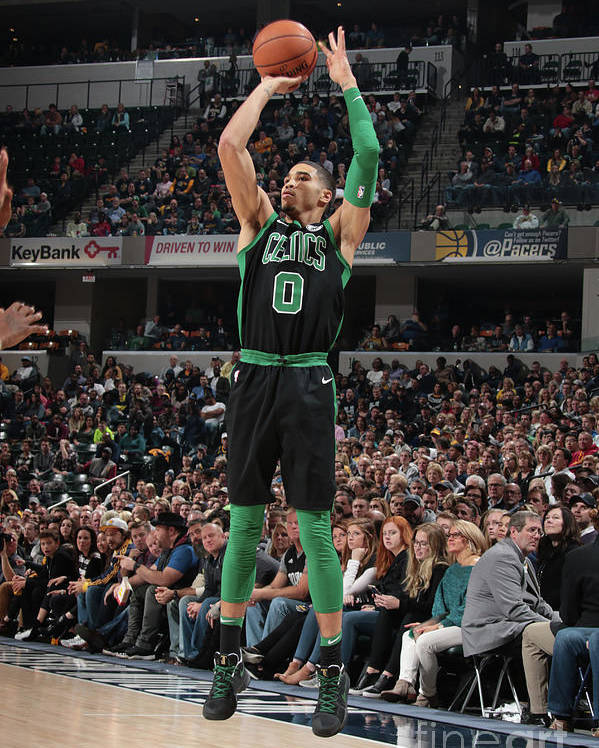 Nba Pro Basketball Poster featuring the photograph Jayson Tatum by Ron Hoskins