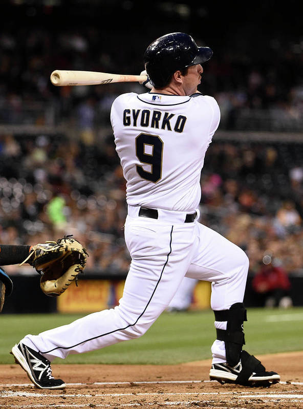 Second Inning Poster featuring the photograph Jedd Gyorko by Denis Poroy