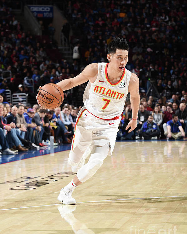 Nba Pro Basketball Poster featuring the photograph Jeremy Lin by David Dow