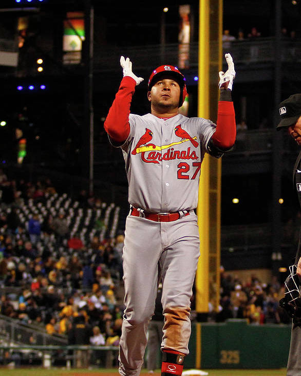 St. Louis Cardinals Poster featuring the photograph Jhonny Peralta by Justin K. Aller