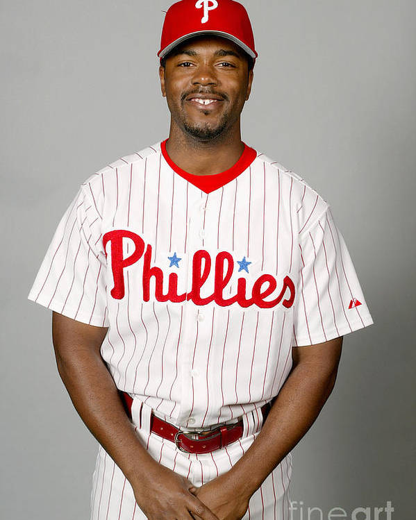 Clearwater Poster featuring the photograph Jimmy Rollins by Major League Baseball Photos