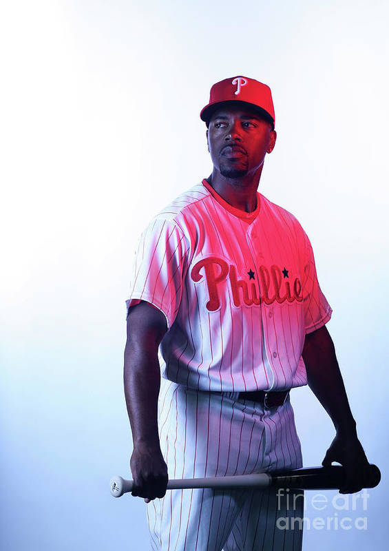 Media Day Poster featuring the photograph Jimmy Rollins by Nick Laham