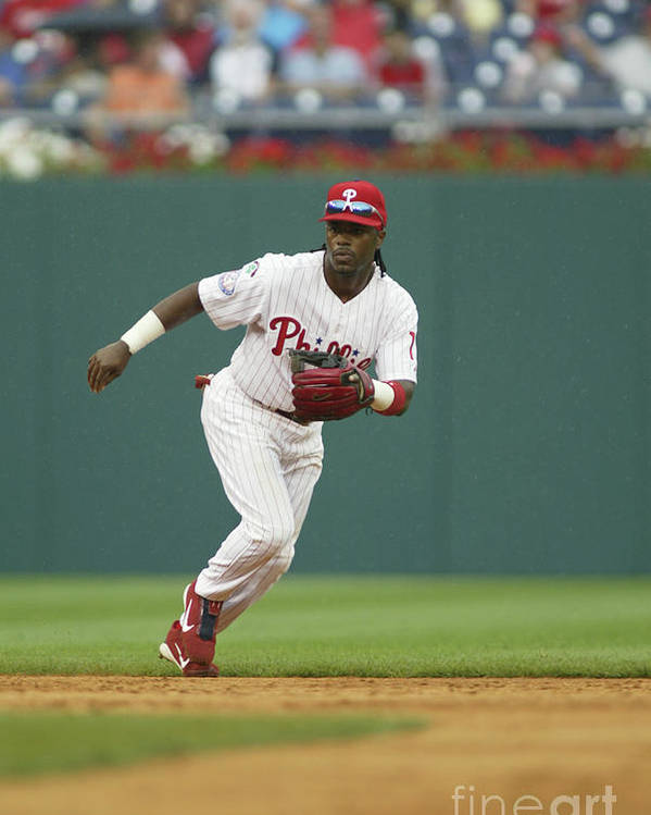 Sports Ball Poster featuring the photograph Jimmy Rollins by Rob Leiter