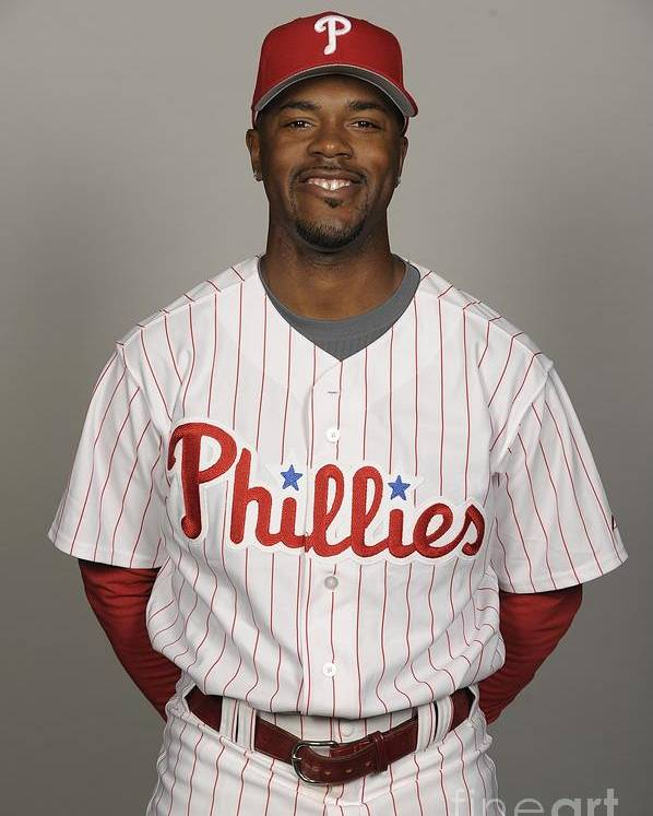 Media Day Poster featuring the photograph Jimmy Rollins by Tony Firriolo